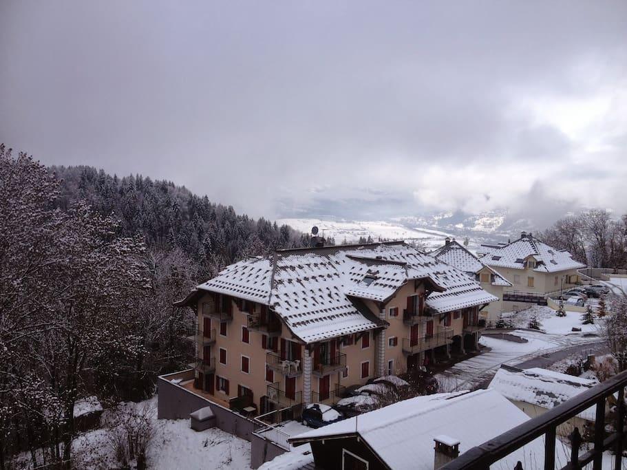 Vue  des balcons et terrasses