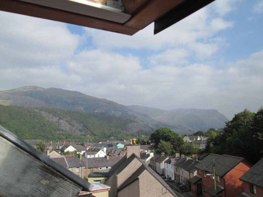 View of elidir fach from one of the bedrooms