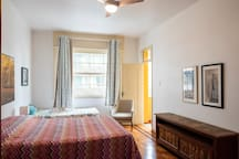 master bedroom with veranda