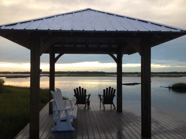 Topsail Island waterfront sanctuary