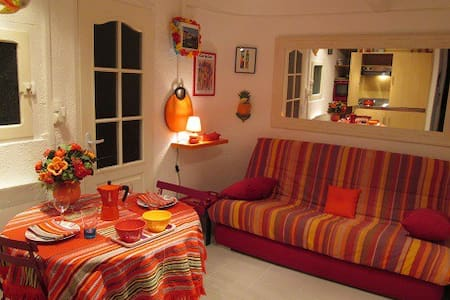 Charmant petit studio centre ville,TV, free wifi - 科利烏爾(Collioure)