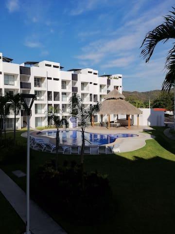 Acogedor Departamento, Coto Privado en Manzanillo