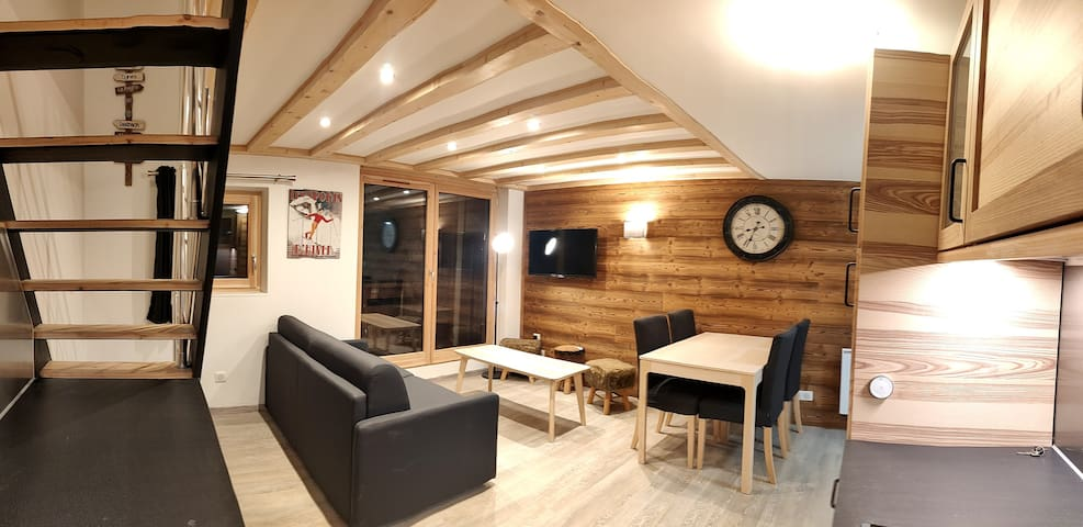 App 2 chambres 50m2 4/5pers Wifi skis aux pieds