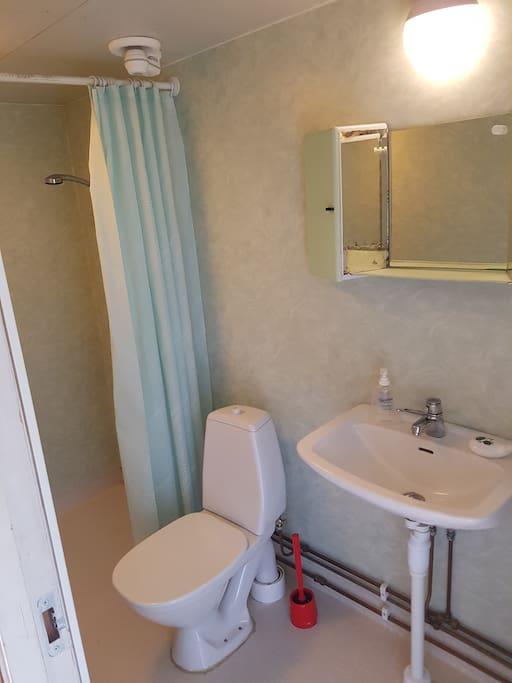 Bathroom with underfloor heating.