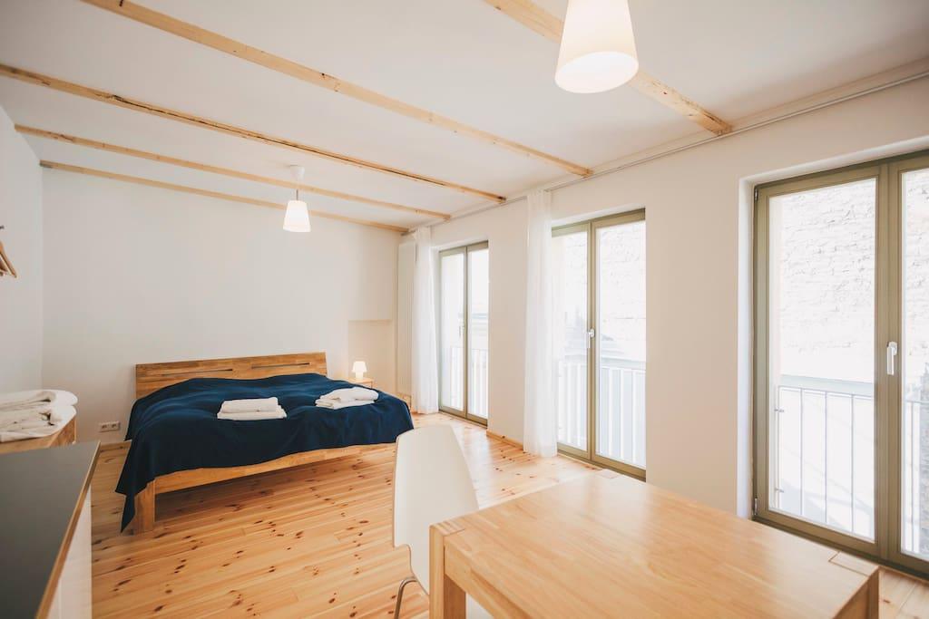 2 * 1 Zimmer- Appartment (2-3 Personen) Schlafbereich