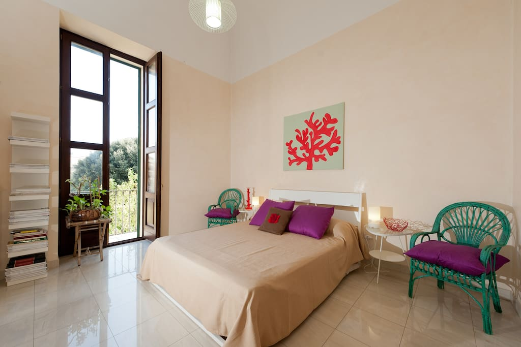 "the ""Coral"" double bedroom"