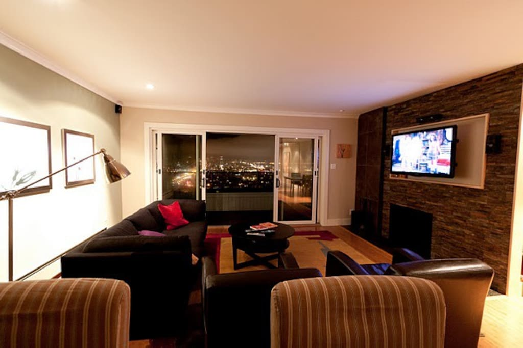 Living Room, Fireplace, TV, View