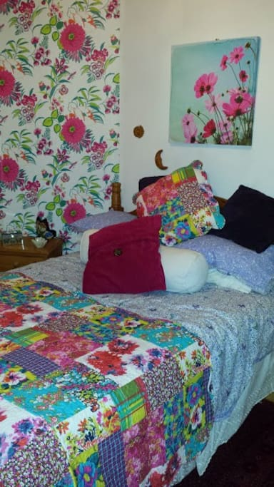 Romantic room with very comfy double bed.