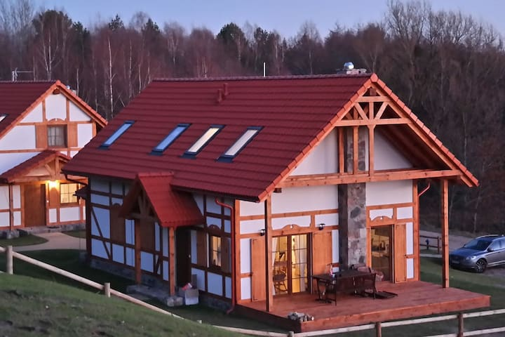 Cozy Cottage in Barnowiec with Sauna