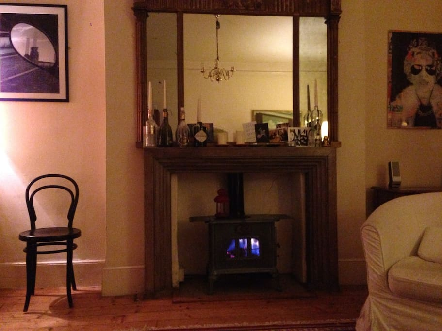 Cosy fireplace in the living room