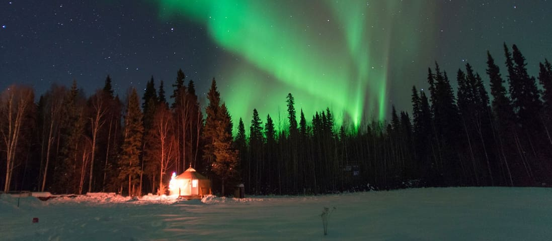 See the Aurora from your private deck.