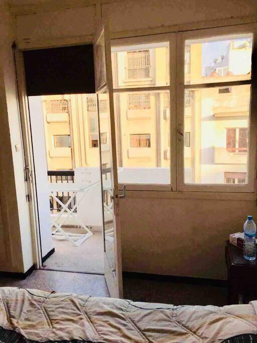 Balcon privé inclu dans la chambre