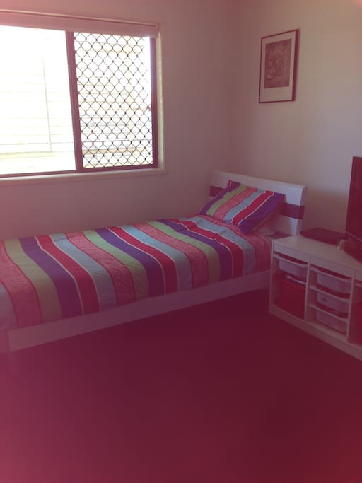 King single bed.