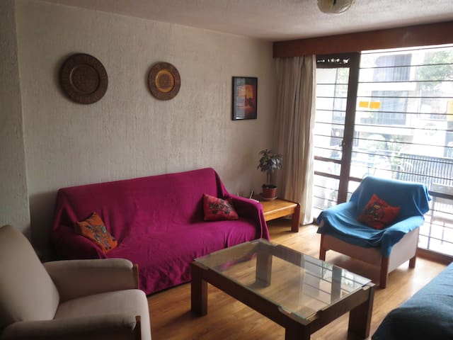 Room with private bathroom in beautiful apartment - Colonia Juárez