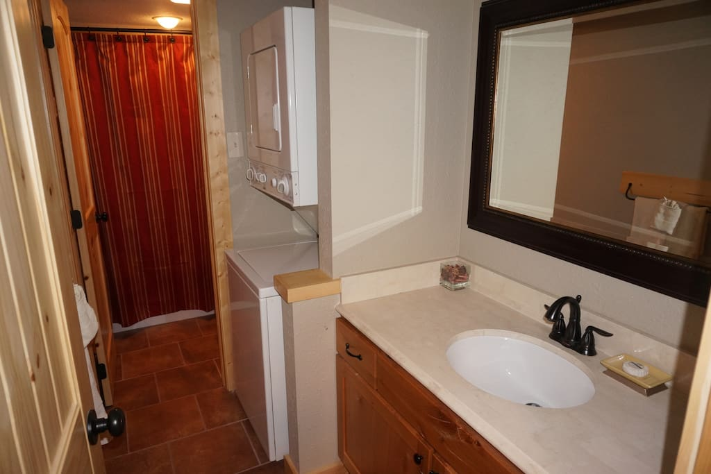 Master bathroom with washer/dryer
