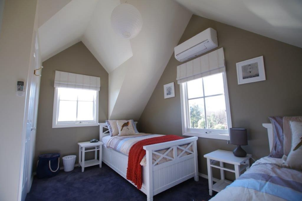 The cute and cosy twin room. Plenty of room for adults or kids