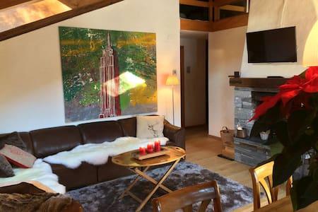 Close to Gstaad, Gemütliche, komfortable Wohnung - Rougemont - Kondominium