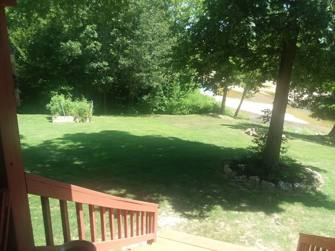 Beautiful view of the Sinkin Creek from the deck.