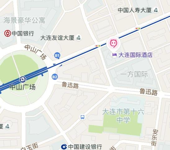 酒店所在地图位置