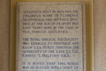 Plaque in Entrance Hall