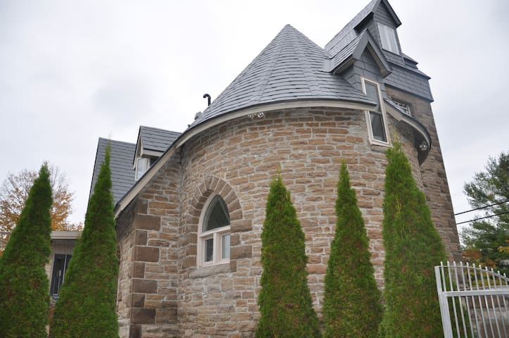 A Historic Gothic Stone Church Home, Canoe & Kayak