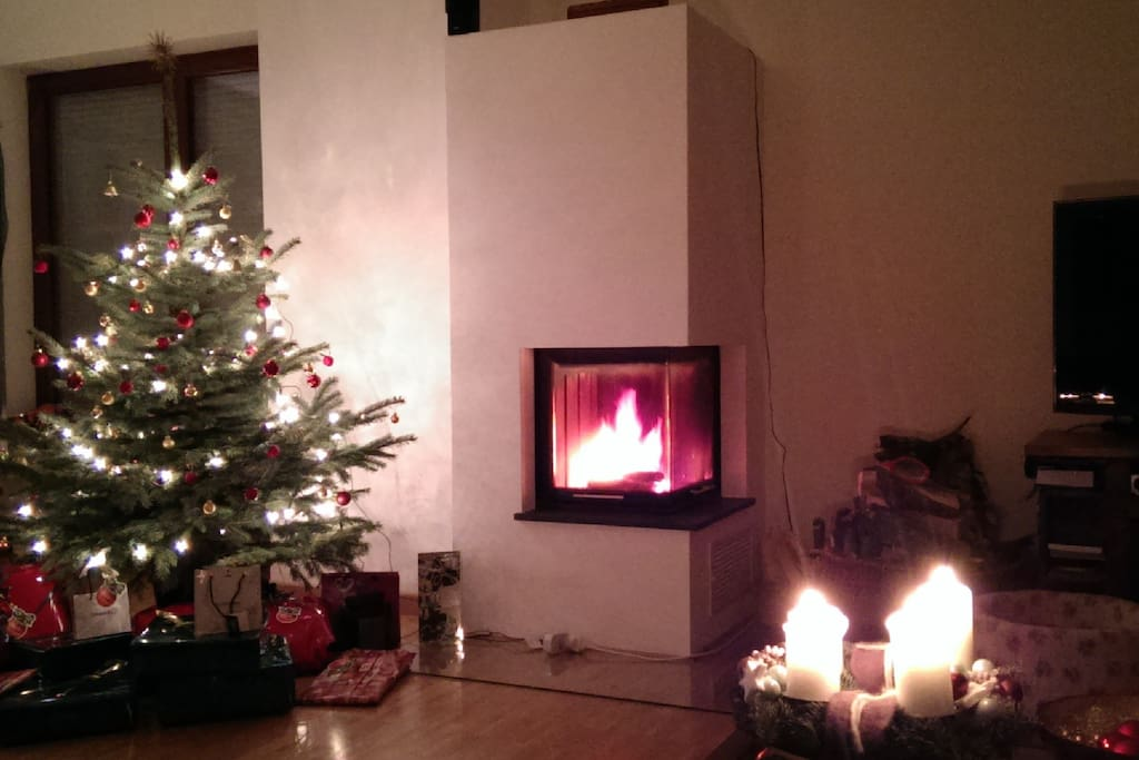 Warm yourself up to the fireplace
