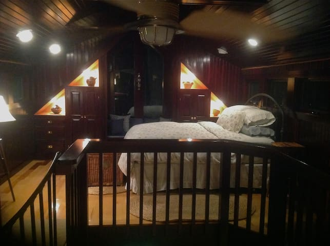 Night time in the sleeping loft.
