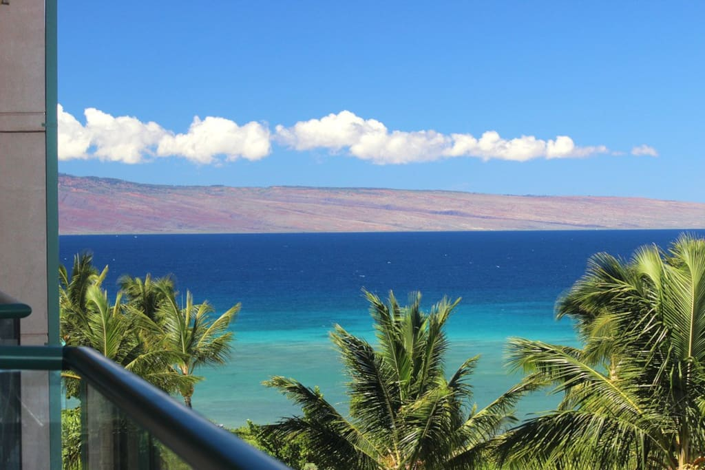 Wake up to big views of the the teal-blue maui waters from the lanai