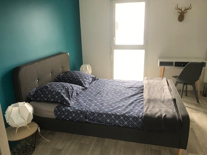 Chambre dans duplex neuf avec terrasse