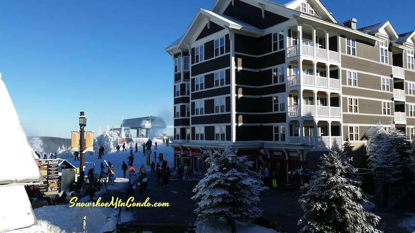 top floor top class studio ski in and out location - Snowshoe - Condomínio