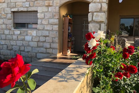 Private room and bathroom in a villa by the gilboa