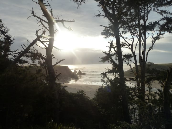 Beautiful Glamping, Grey Fox Room, Walk to beach
