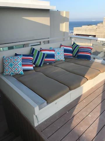 Area privada para tomar el sol. Private area for getting a tan