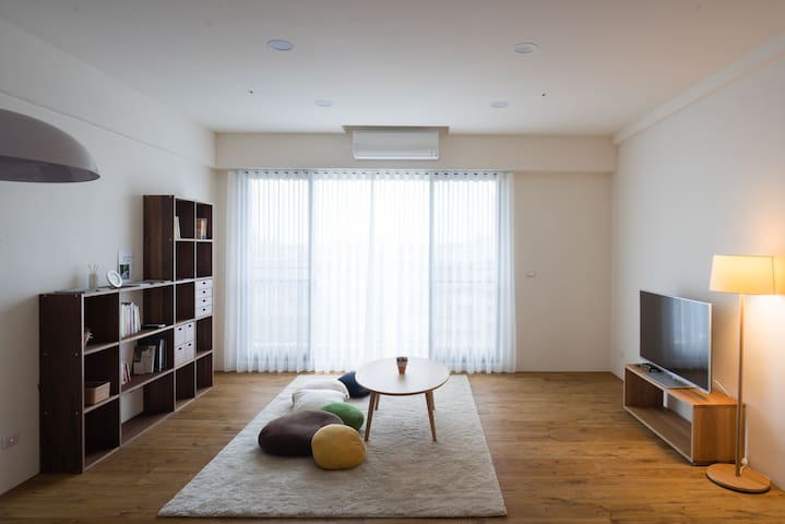和暖怡居Cozy x Simple-雙人床房double room(shared bathroom) - Beitun District - Apartment