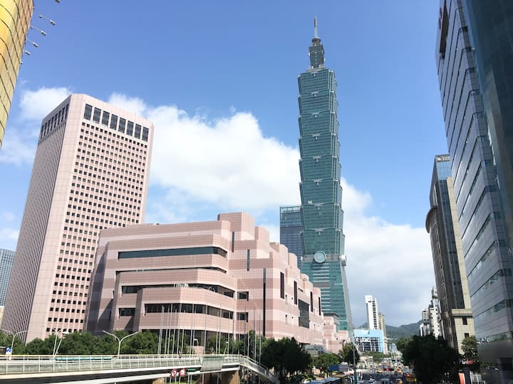 Taipei Home~near101,2 double rooms(not attic room)