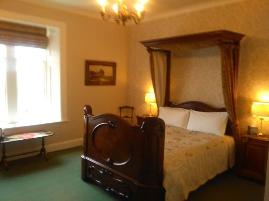 Stunning antique half tester bed