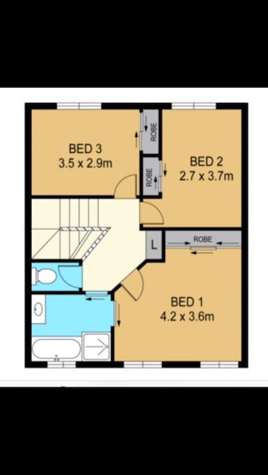 Upstairs floor plan