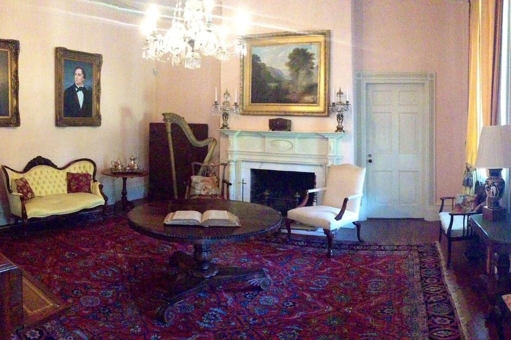 The front parlor is grand and will take you back in time.