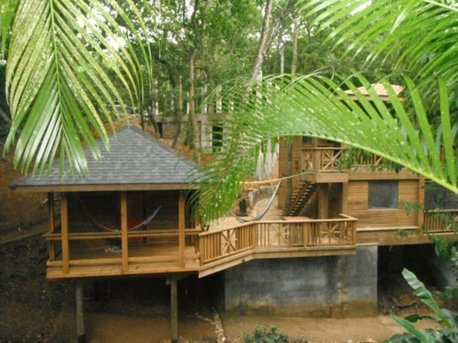 Turtle Cabin is Private with porch and Hammock and large party deck