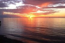Amazing full Western view sunsets at Turtle beach and they are never the same