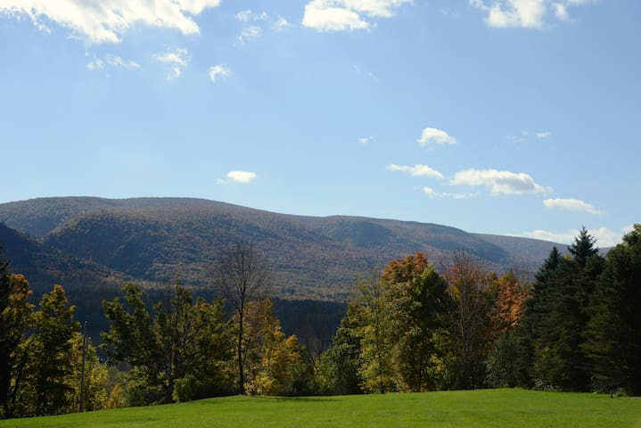 The views from the barn are magnificent in any season, especially Fall.