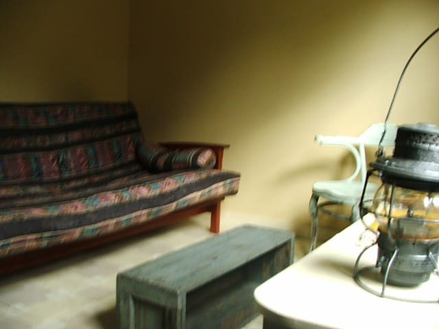 3rd Bedroom/Den with Futon & Book case full of books and board games