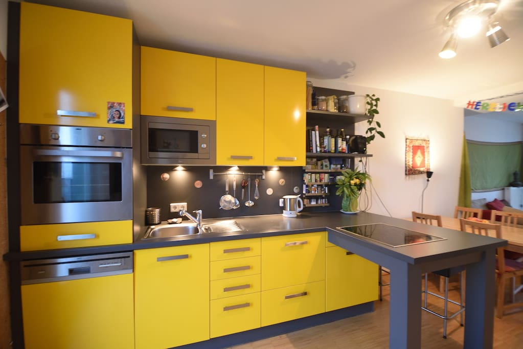 wonderful luminous and well equipped kitchen