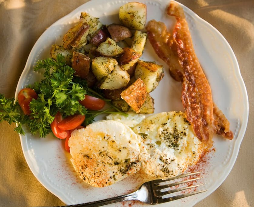 We are licensed to serve food and so we prepare our guests a homemade multi-course breakfast every morning.