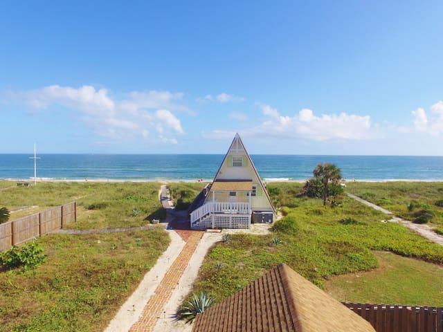 Oceanfront A Frame House Vilano Bch - Saint Augustine - Dům