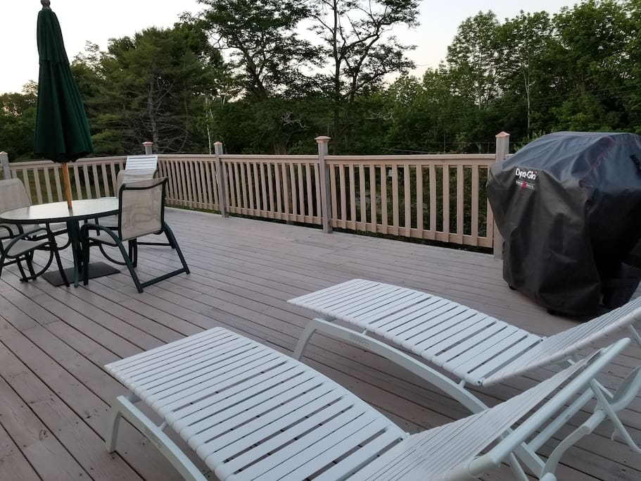 Grill and deck furniture