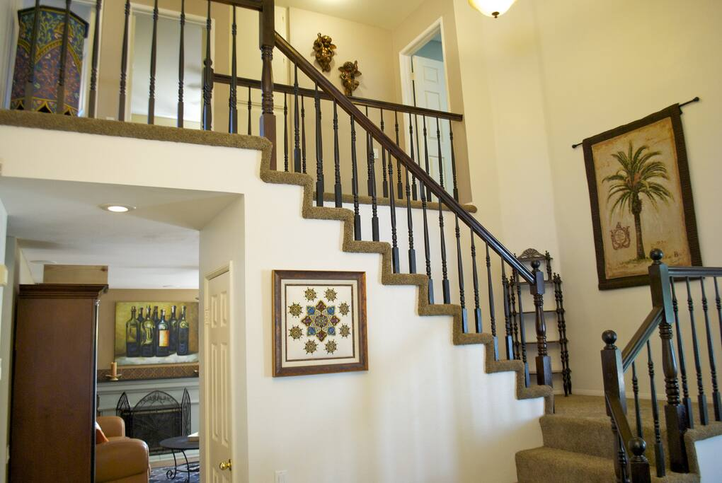 Plenty of space for gathering, one bedroom downstairs, 4 upstairs.