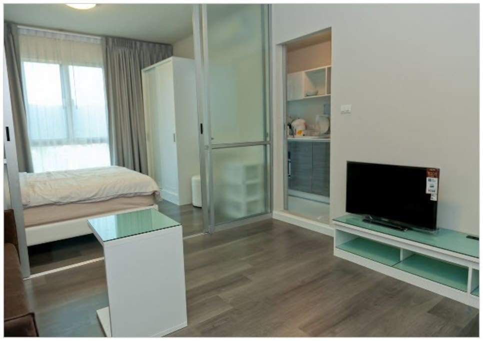 Approximately 30 square meters room space.
