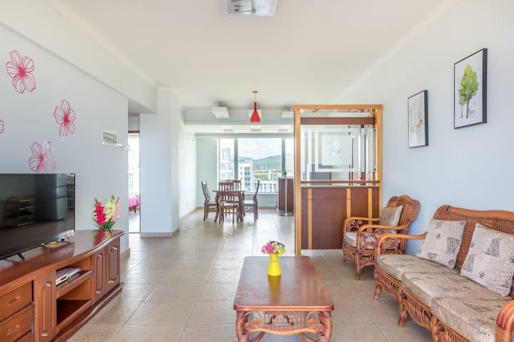 椰风海韵免费开火中式风格浪漫海景二居室