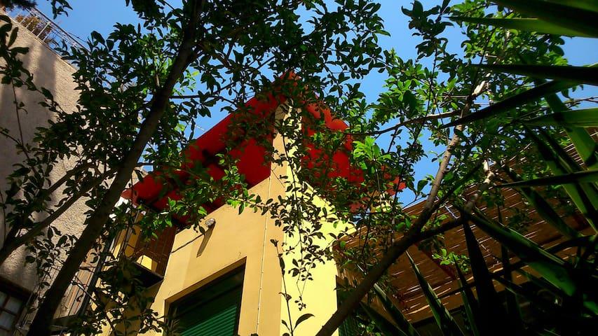 Sunny attic. Acropolis-Koukaki.
